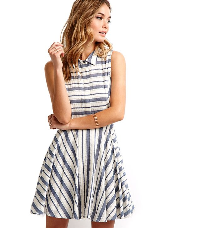 Forever 21 Striped Fit & Flare Dress