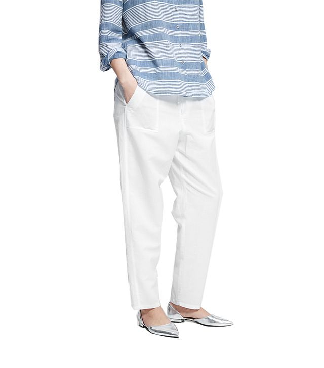 Violeta Linen-Blend Trousers