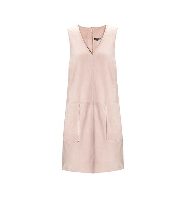 Warehouse Suede A-Line Shift Dress
