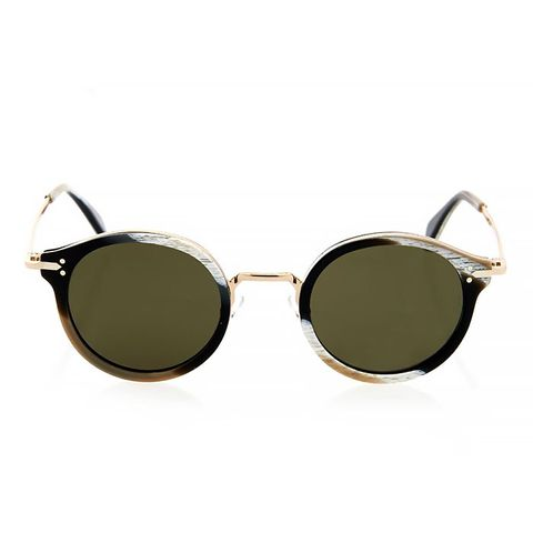 Round-Framed Acetate Sunglasses