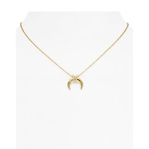 Pavé Horn Pendant Necklace
