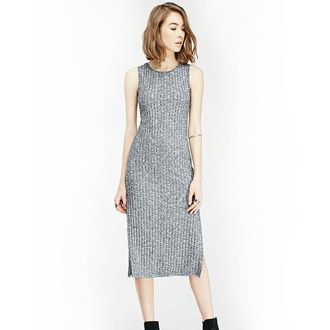 Marled Side-Slit Dress