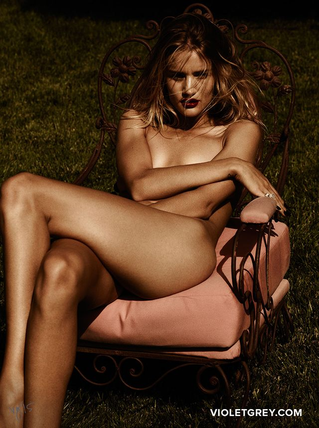 Whoa: Rosie Huntington-Whiteley Bares It ALL for Violet Grey