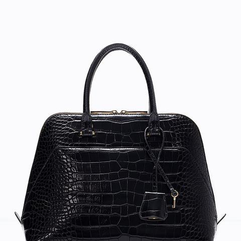 Mock Croc City Bag