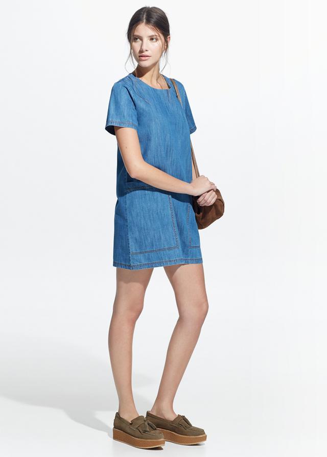 Mango Pocket Denim Dress