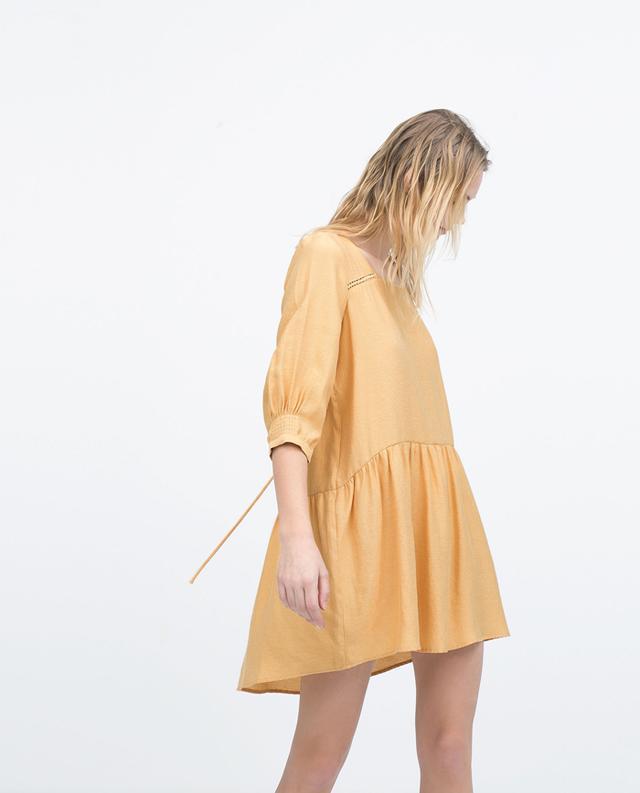 Zara Crepe Sleeve Dress