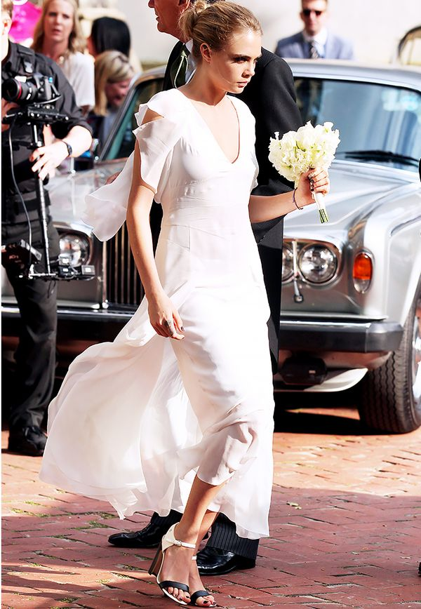 Celebrity bridesmaids dresses: Cara Delevingne