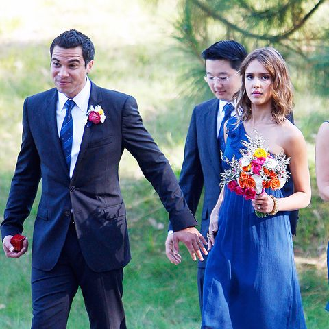 Celebrity bridesmaids dresses: Jessica Alba