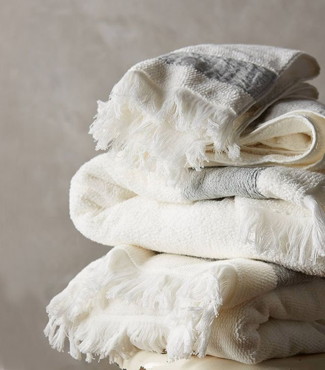 Anthropologie Linen-Edged Towel Collection
