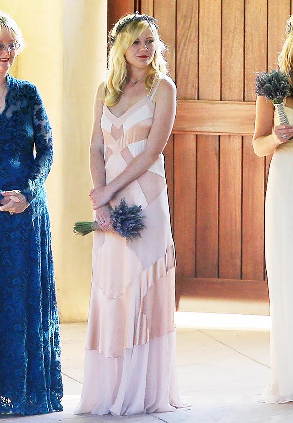 Kate Celebrity bridesmaids dresses: Kirsten Dunst