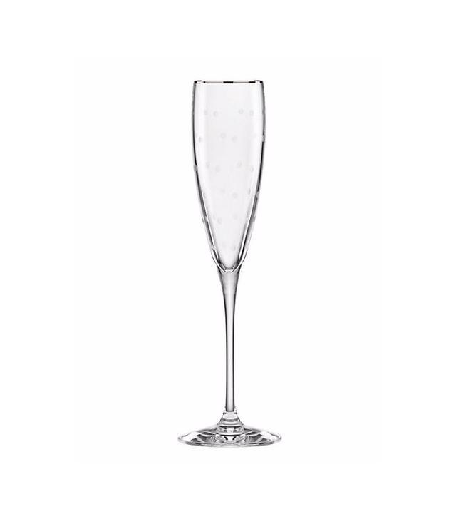 Kate Spade Larabee Dot Champagne Flute