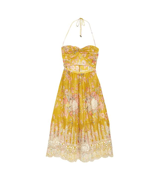 Zimmermann Confetti Floral-Print Cotton Dress