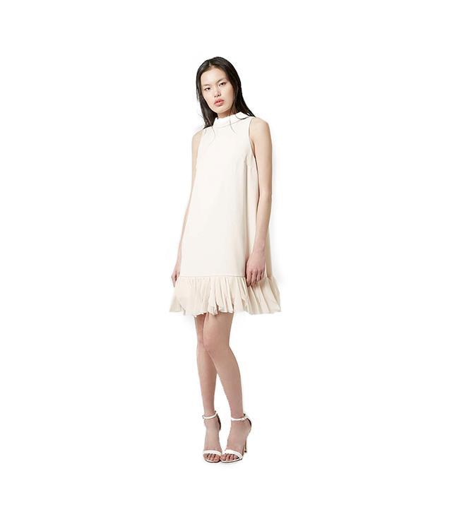 Topshop Rollneck Petal Hem Dress