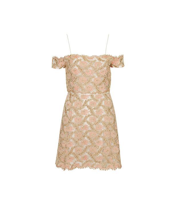 Topshop Limited Edition Cold Shoulder Lace Dress