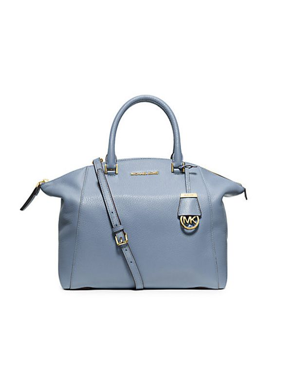 Michael Kors Riley Large Pebbled Leather Satchel