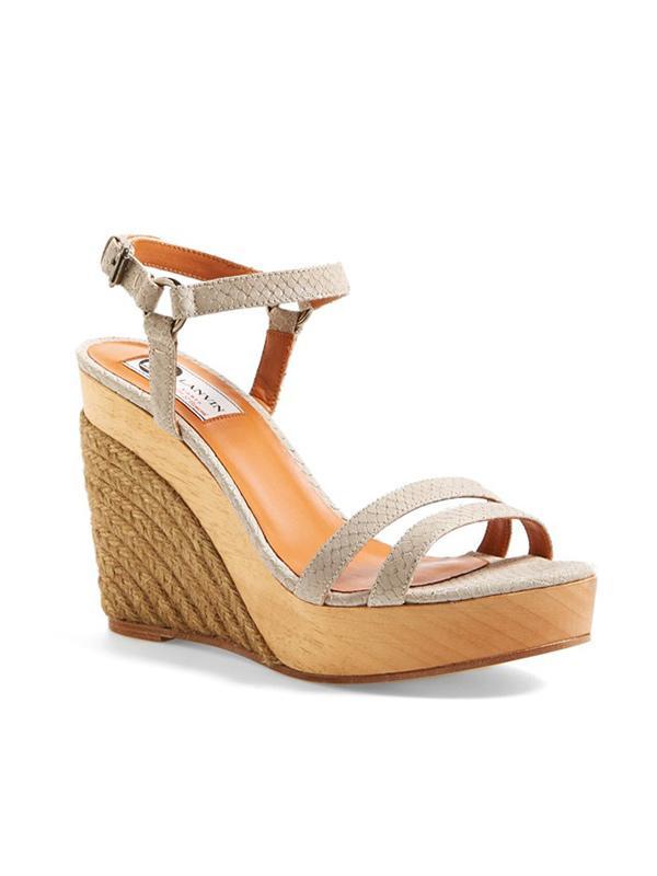 Lanvin Espadrille Wedge Sandals