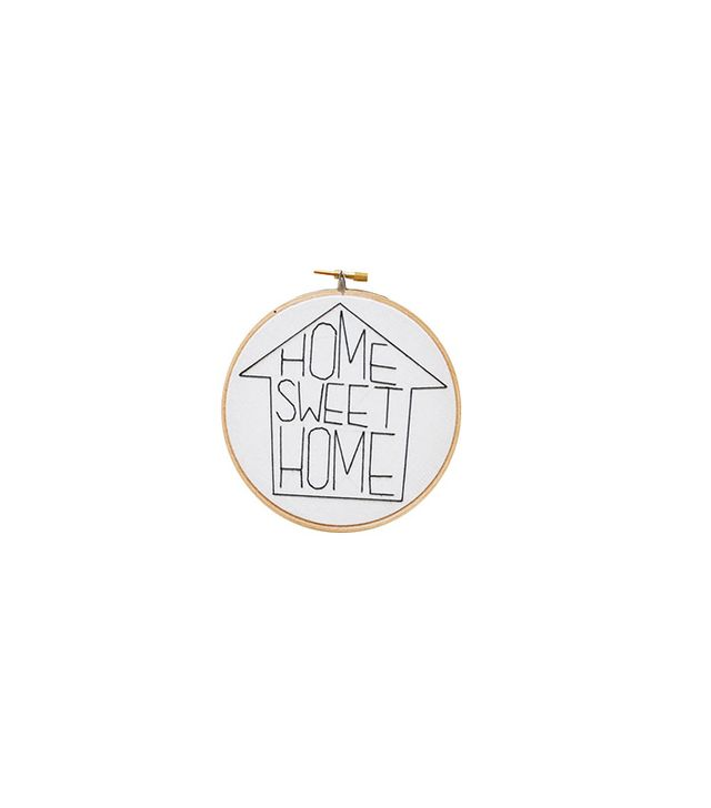 Sara K. Benning Home Sweet Home Embroidery Hoop