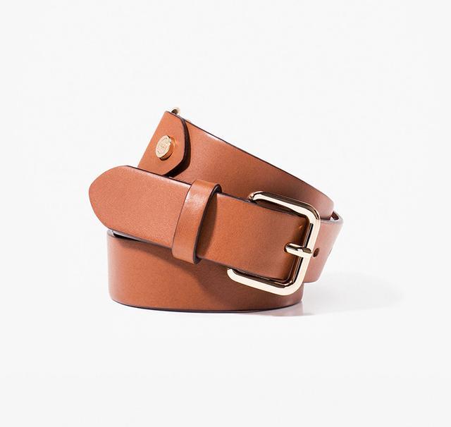 Massimo Dutti Metallic Detail Belt