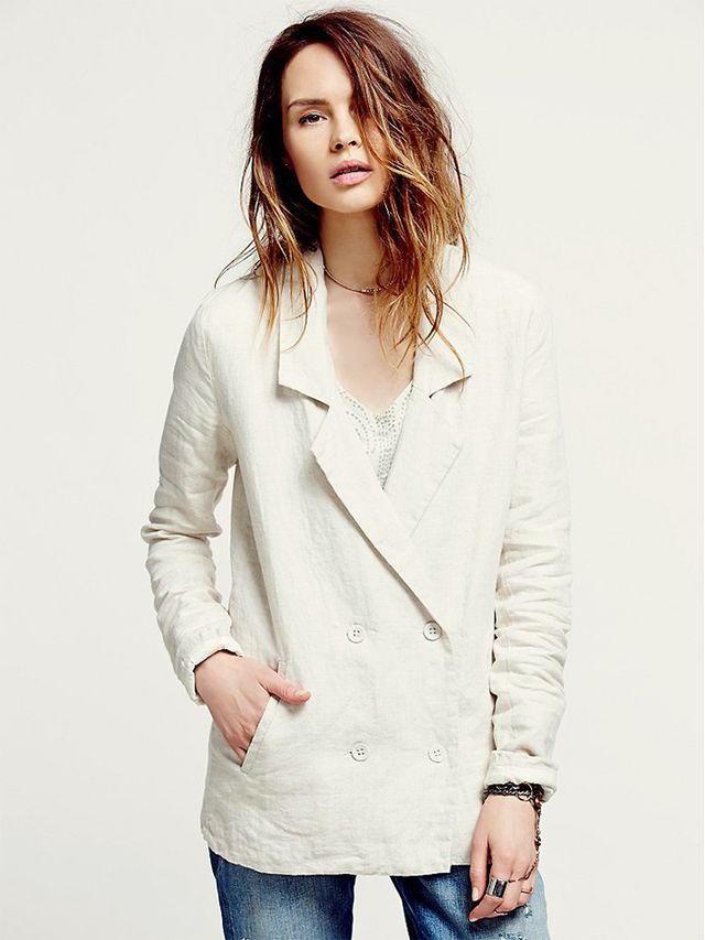 One by One Teaspoon Coco Linen Blazer