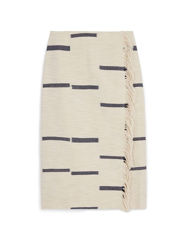 Tory Burch Striped Canvas Skirt