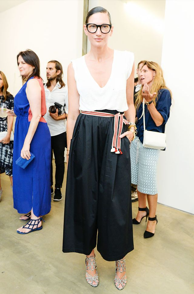 Style Tip: Follow Jenna Lyon's lead and tie a fringe belt around a pair of culottes.