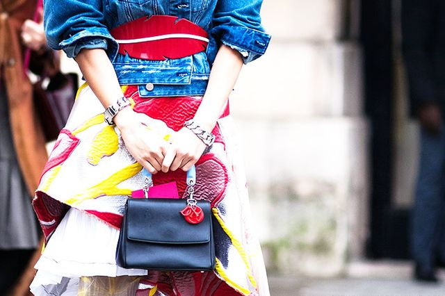 Style Tip: Accessorize your waistline with a thick, bold belt in a vibrant hue.