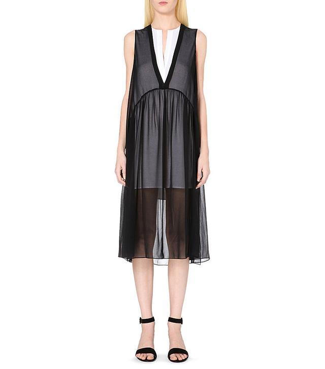 Sandro Riham Sheer Midi Dress