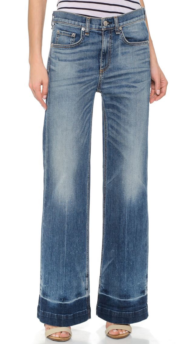 Rag & Bone/Jean the Loose Fit Wide Leg Jeans