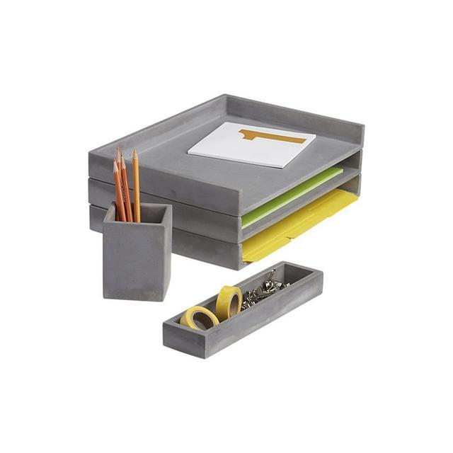 CB2 Cement Desk Accessories