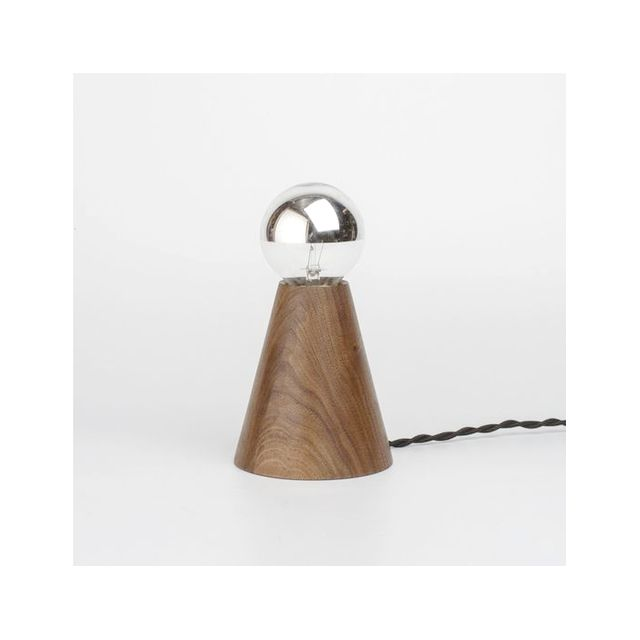 Allied Maker Wood Cone Table Lamp