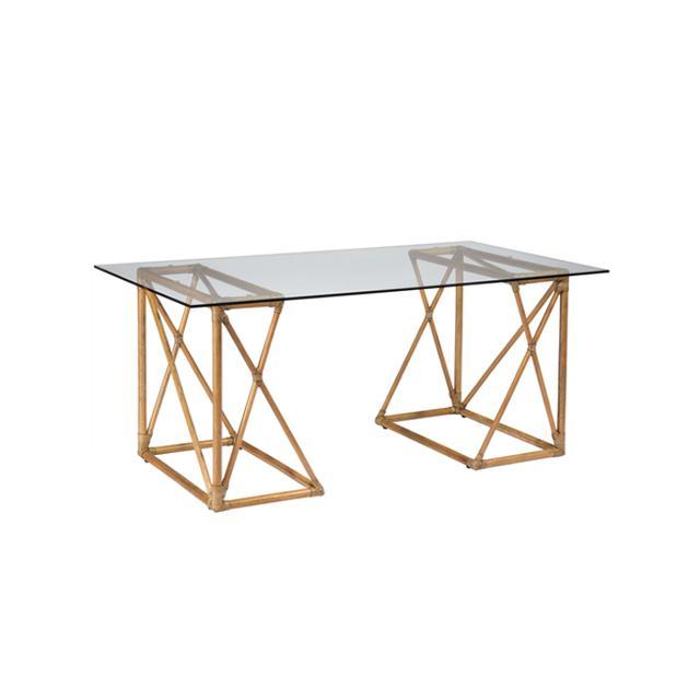 Zinc Door Riva Nutmeg Trestle Desk