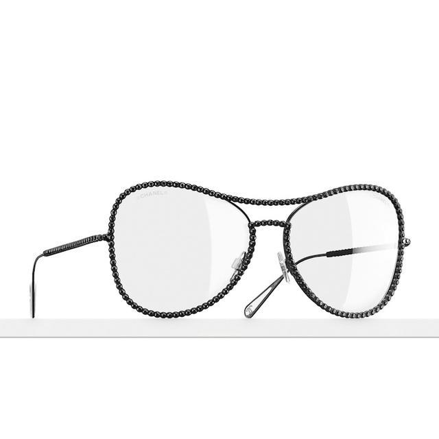 Chanel Paved Aviator Sunglasses