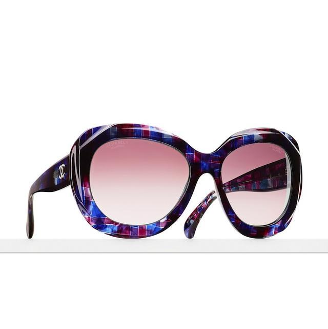 Chanel Tweed Effect Sunglasses