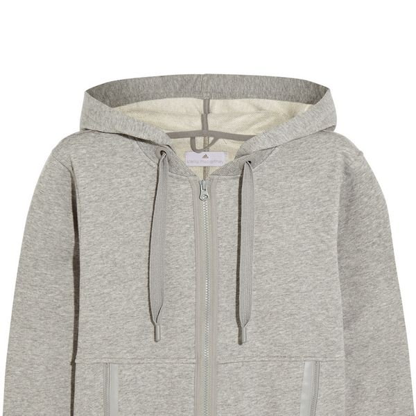 Adidas by Stella McCartney Essentials Cotton-Blend Jersey Hooded Top