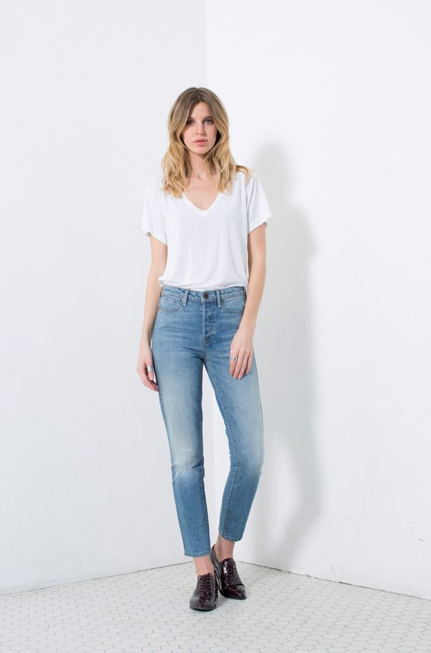 TALLEY Lola High Rise Ankle Slim Jeans