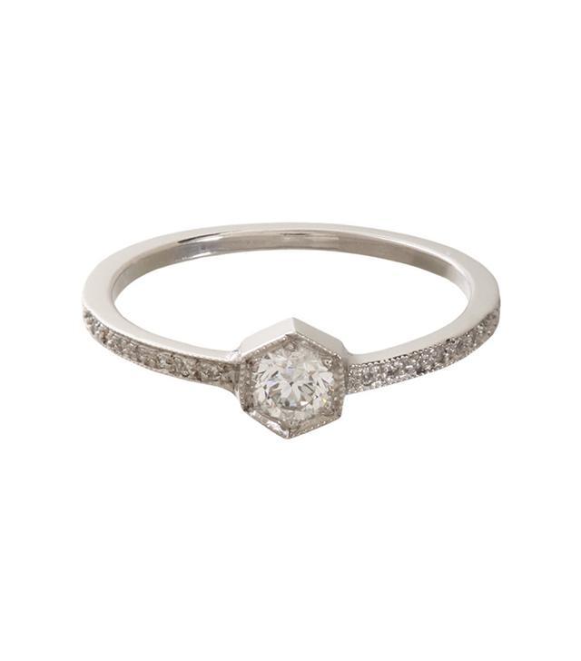 Cathy Waterman Hexagonal Bezel Ring