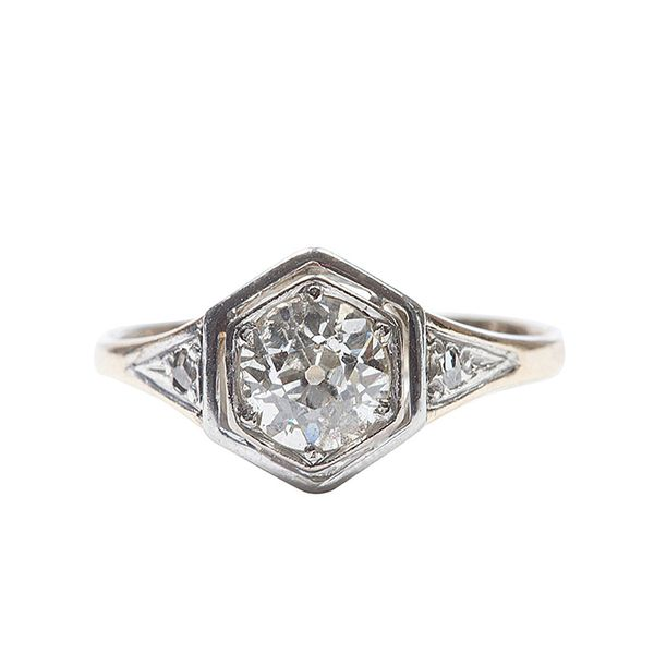 Jack Weir Old European Cut Diamond Engagement Ring