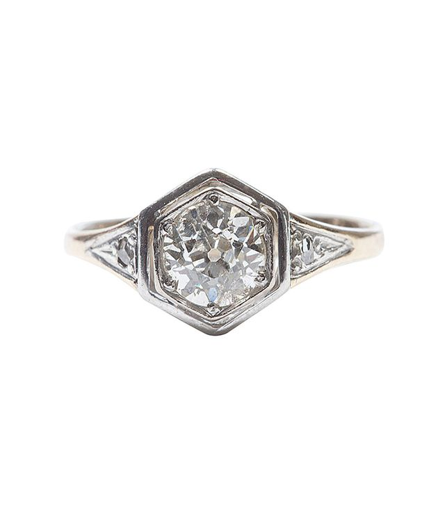 Jack Weir Old European Cut Diamond Engagement Ring