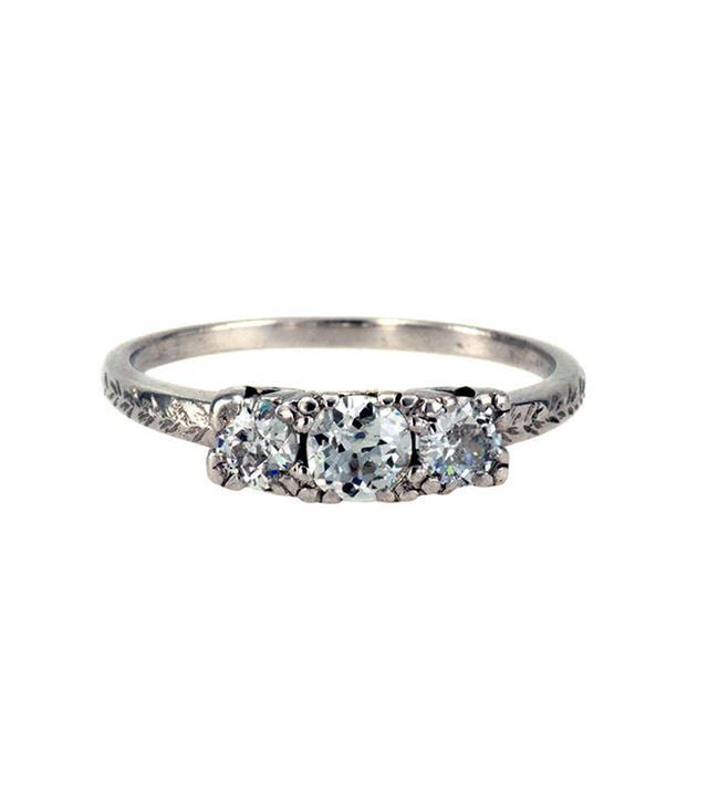 Jacob's Estate Jewelry Vintage Three-Stone Diamond Ring