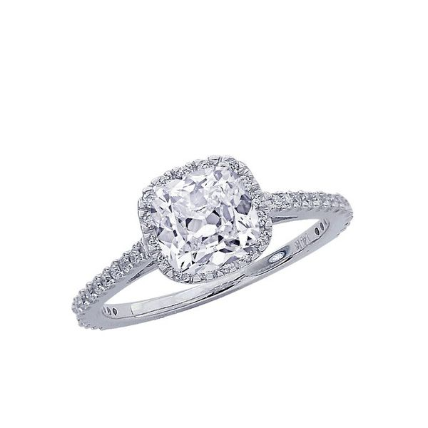 Chandni Jewels Classic Halo Diamond Engagement Ring