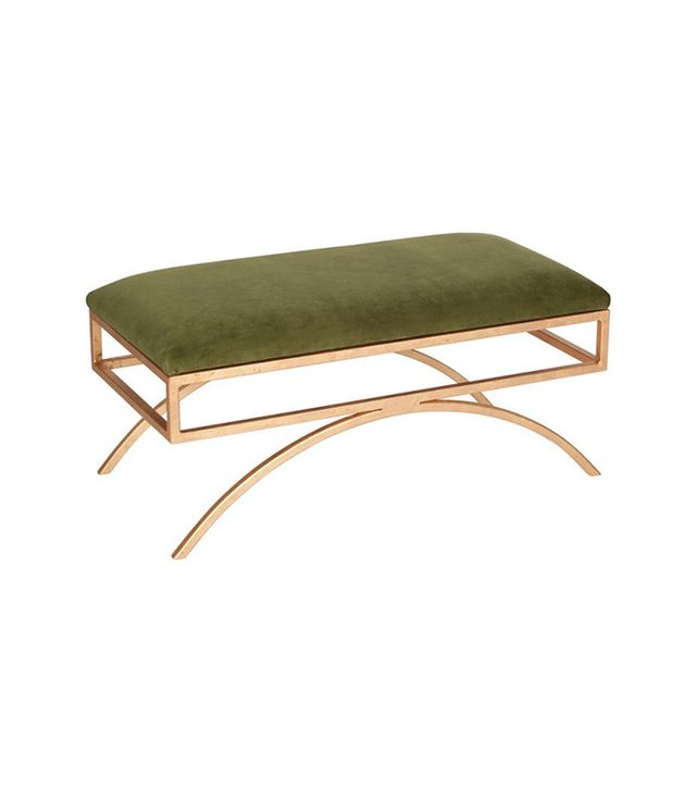 One Kings Lane Trojan Velvet Bench