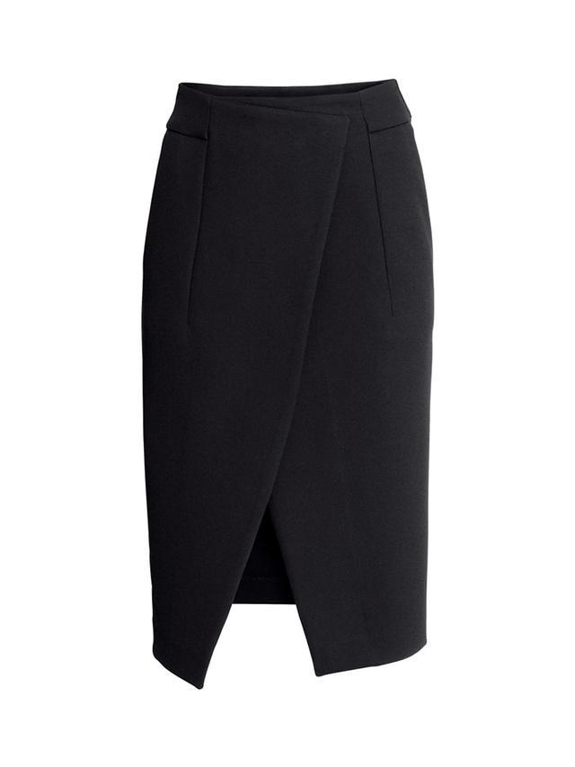 H&M Wrapover Crepe Skirt