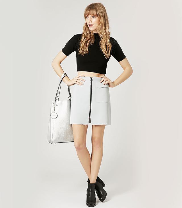 Topshop Crepe Mini Skirt