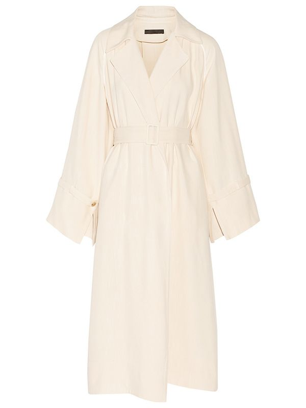 The Row Lana Oversized Shantung Trench Coat