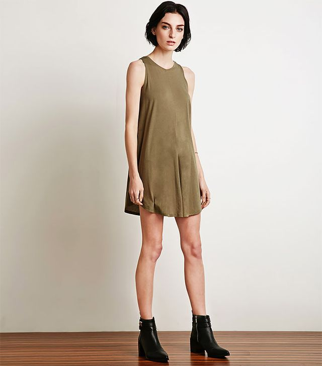 Forever 21 Curved-Hem Trapeze Dress