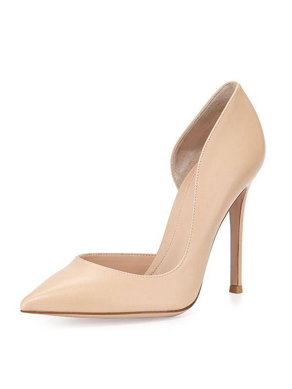 Gianvito Rossi Leather Open-Side Pumps