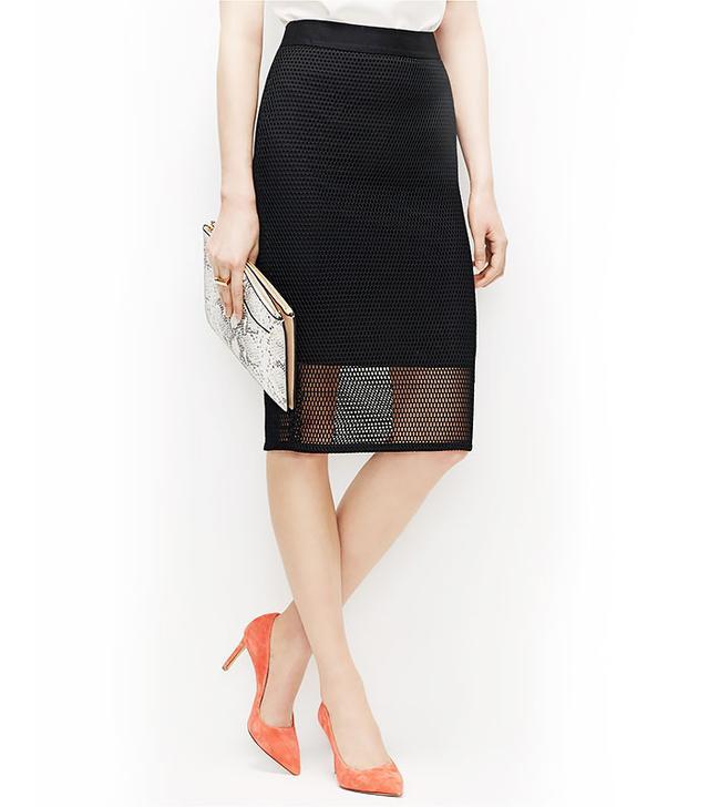 Ann Taylor Mesh Pencil Skirt
