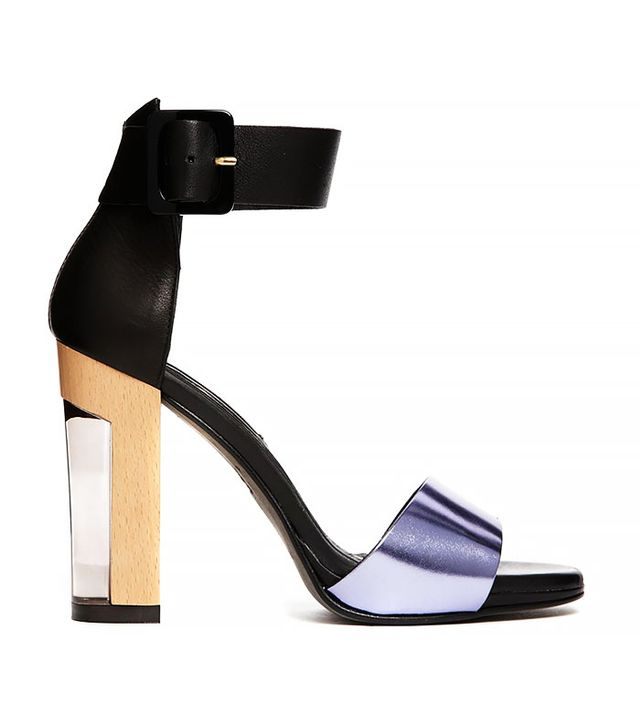 Miista Lily Leather Ankle Strap Block Heeled Sandals