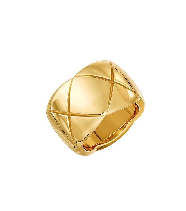 Chanel Small 18-Karat Yellow Gold Ring