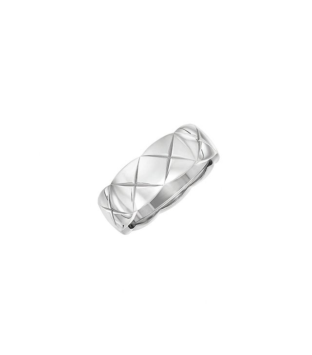 Chanel Small 18-Karat White Gold Ring